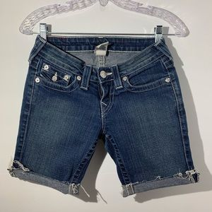 True Religion cuttoff shorts